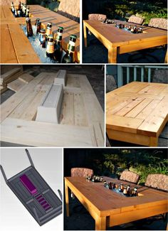 DIY Beer Table Perfect, love it.