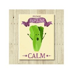 Funny Magnet, Romaine Calm, Food Pun, Gift for Chef, Romaine Lettuce, Lettuce Pun, Cute Fridge Magnet, Cute Magnets, Gifts Under 10 by CallMeArtsy on Etsy www.etsy.com/...