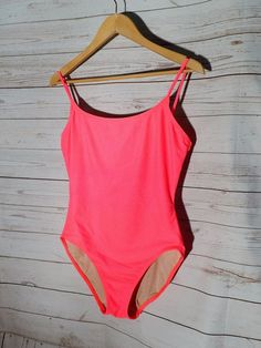 Women's Anne Cole Collection Hot Pink One-Piece Swimsuit Size 14 Nylon Lycra #AnneCole #OnePiece