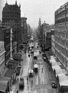 Historic Elizabeth Street in B & W