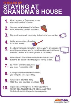 10 Rules Of Staying At Grandmas House | More LOLs & Funny Stuff for Moms | NickMom