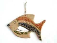 Home Decor Ceramic Fish / Ceramic Fish / Decorative by tulinozder