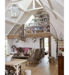 lofted reading room, charming place to quietly read