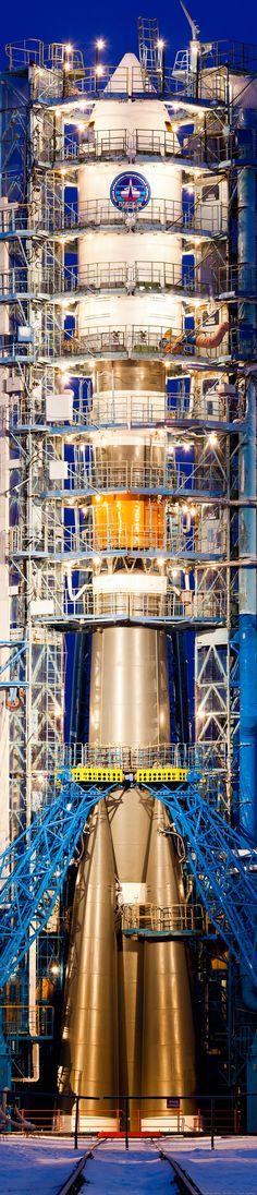 Soyuz on the pad - Plesetsk. Credit: Dmitry Chistoprudov