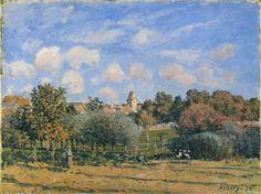 Avenue of Chestnut Trees near La Celle Saint Cloud - Alfred Sisley, 1874