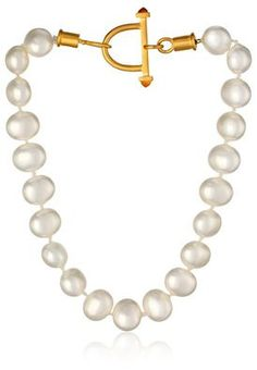 18 K Gold and Freshwater Pearl Necklace only at www.favery.com