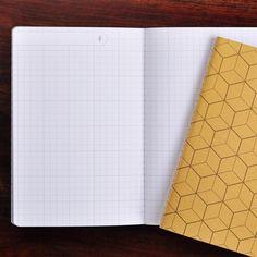 Grid paper on journals for bullet journaling