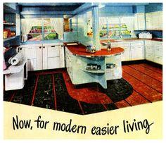 Vintage Room, Vintage Home Decor, Vintage Kitchen, Retro Vintage, 1940s Kitchen, Kitchen Ware, Kitchen Stuff, Country Kitchen, Kitchen Ideas