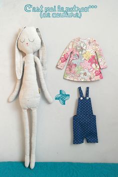 Sewing Projects For Baby Gifts Fabrics 54 New Ideas Handmade Stuffed Animals, Fabric Animals, Fabric Toys, Cat Doll, Sewing Dolls, Soft Dolls, Doll Crafts, Stuffed Toys Patterns, Handmade Toys