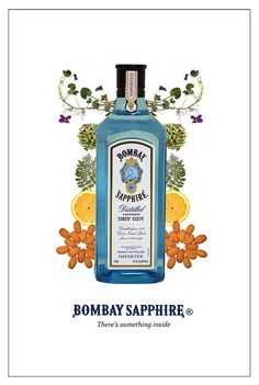 Bombay Sapphire What a flavourful gin !  I luv it. Beautiful to look at, too.