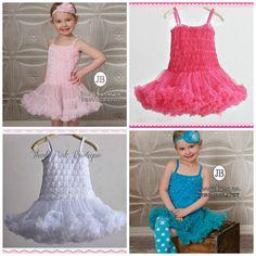 CHOOSE COLOR Tutu Dress Girls dress Petti skirt by ThinkPinkBows