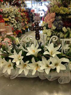 Easter Lilies Flower Arrangement Floral Arrangements