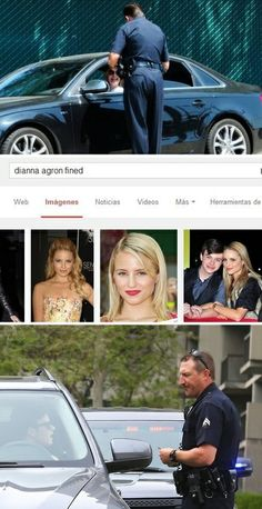 LOL Dianna Agron and Chris Colfer