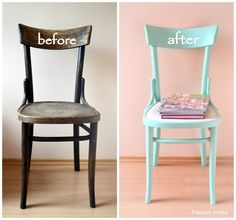 Passion shake : DIY painted pastel wooden chair