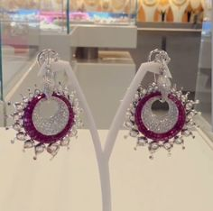Magnificent Peacock diamond earrings ~ Jaipur Gems ~ Instagram