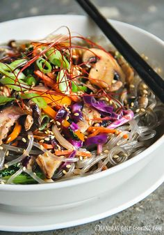 Sweet Potato #Noodle Stir Fry -Japchae #koreanfood #yummy #recipes