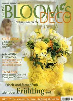 Frisch und farbenfroh zieht der Frühling ein! Gefunden in: Blooms, Nr. 2/2015