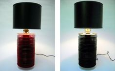 Discos de Vinil reciclados tornam-se bases para Lâmpadas