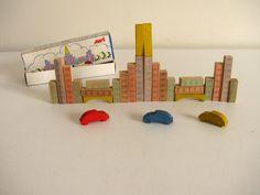 Vintage Mid Century West Germany JURI Mini Wood Block Set Sculpture