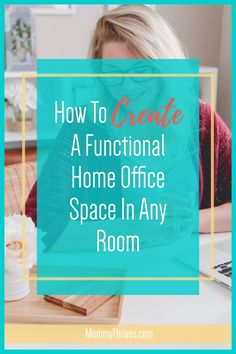 Home Office Set Up - Work From Home Office Ideas - Home Office Decor and Ideas Organizing Clutter, Organizing Your Home, Organization Ideas, Small Space Organization, Home Office Organization, Home Office Space, Home Office Decor, Office Setup, Office Ideas