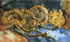 Vincent van Gogh, Four Cut Sunflowers - 1887 on ArtStack #vincent-van-gogh #art