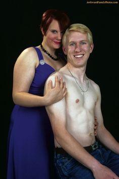 Ya, that's not weird at all.  Awkward Family Photos.