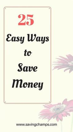 Here are 25 easy ways to save money and improve your budget. Saving money may not be as hard as you think. Give those a try.   money-saving tips, frugal living, personal finance, ways to save money.