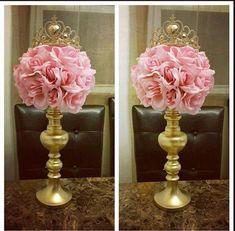 diy elegant quinceanera centerpiece in less than 5 minutes rh pinterest com