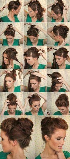 Jak szybko upiąć włosy do ramion