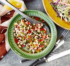 The flavor of this salad deepens as it sits, and we'd use the vinaigrette on any bean salad, including green beans.