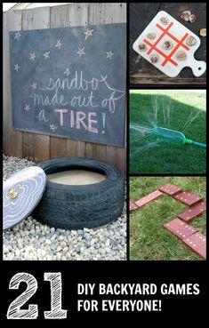DIY lawn games