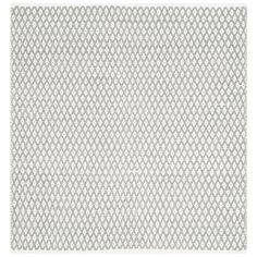 Boston Grey 4 ft. x 4 ft. Square Area Rug