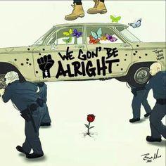 Kendrick Lamar - We Gon' Be Alright Framed Art Print by Jackie Bran - Vector Black - Kendrick Lamar Album Cover, Kendrick Lamar Lyrics, Arte Hip Hop, Hip Hop Art, We Gon Be Alright, To Pimp A Butterfly, Butterfly Art, Kung Fu Kenny, Dope Art