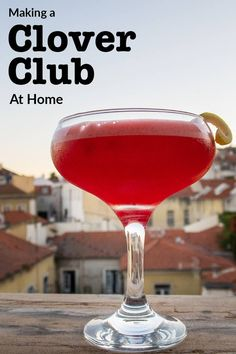 Follow our Clover Club cocktail recipe and learn how to craft the classic cocktail at home in just five minutes. This pre-prohibition is frothy and fun. | classic cocktail | clover club recipe | clover club cocktail recipe | gin cocktail Philadelphia Bars, Philadelphia Recipes, Classic Cocktails, Fun Cocktails, Gin Cocktail Recipes, Homemade Syrup, Raspberry Syrup, Drinking Around The World