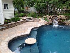 small pool - done right w/Mediterranean Blue AquaBright
