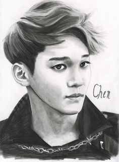 Chen kind of looks like Baekhyun here. Exo Chen .:Fan Art:. by FallThruStardust on deviantART