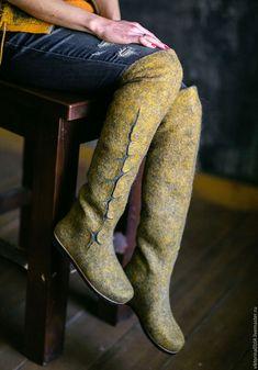 """Купить Ботфорты-трансформеры """"Мирабель"""" - валенки, ботфорты, теплая обувь, трансформеры, зимняя обувь"""