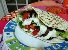Pao pita com falafel