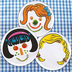 Mrs. Food Face Plate