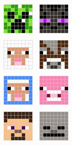 MINECRAFT PIXEL ART – One of the most convenient methods to obtain your imaginative juices flowing in Minecraft is pixel art. Pixel art makes use of various blocks in Minecraft to develop pic… Hama Beads Minecraft, Minecraft Crafts, Minecraft Designs, Perler Beads, Minecraft Room, Minecraft Pixel Art, Fuse Beads, Minecraft Quilt, Minecraft Templates