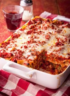 Italy : Classic Lasagna: Rich meaty sauce and creamy cheese layers. Always a favorite!