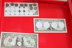 How many ___ is a dollar? Great FREE print out to show kids how many quarters, nickels and dimes equal $1.