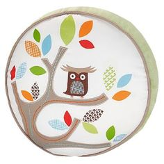 Treetop Friends Pillow to coordinate with crib bedding...
