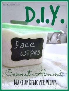 Coconut-Almond Makeup Remover Wipes - Saved By Grace