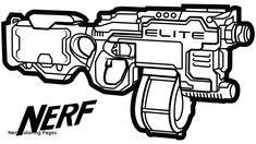Nerf Gun coloring page | Free Printable Coloring Pages | coloring ...