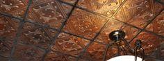 "12"" x 12"" Copper Hammered Ceiling Tile"