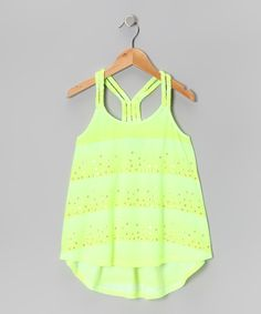 Take a look at this Hydraulic Yellow Stripe Braided Tank on zulily today!