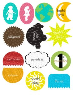 Really cute Plan of Salvation printables. Great for FHE, activity days, or YW.