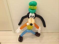 バルーンアート グーフィー ① 顔 Goofy balloon art - YouTube