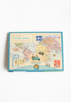 Bon Voyage Sticky Notes   Would be neat for travel journaling